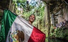 Adriana Jiménez quedó 3er lugar general del mundial en 2014_foto Romina Amato_RedBullCliffDiving
